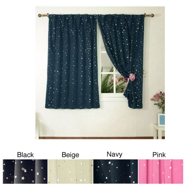 Star struck insulated thermal blackout 63 inch curtain pair for Thermal star windows