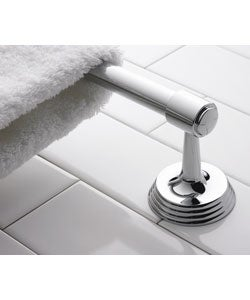 Deco 18-inch Polished Nickel Towel Bar