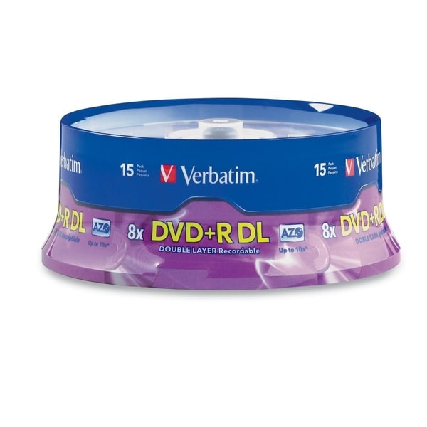 Verbatim DVD+R DL 8.5GB 8X with Branded Surface - 15pk Spindle