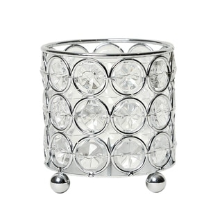 Elegant Designs Elipse Crystal Vase,Candle Holder, Centerpiece, Chrome