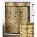 "Rustique Bamboo Roman Shade 74"" Length"