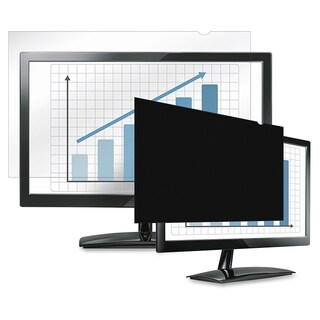 """Fellowes Laptop/Flat Panel Privacy Filter - 19.0"""" Black"""