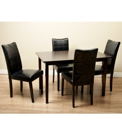 Eveleen Black 5-piece Dining Furniture Set