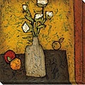 DeRosier 'Modern Vase & Flowers II' Canvas Art