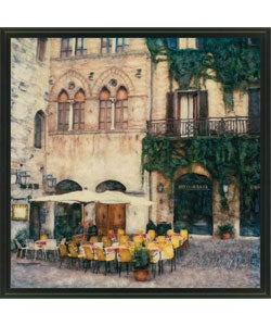 Ernesto Rodriguez 'Ristorante' Framed Canvas Art