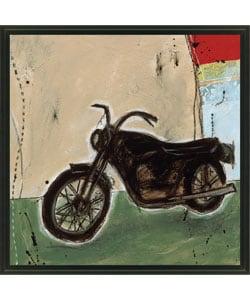 Joel Ganucheau 'Motorcycle I' Framed Canvas Art