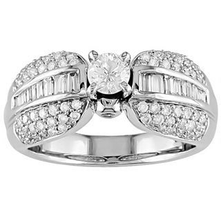 Miadora 14k White Gold 1ct TDW Diamond Ring (G-H, I1)
