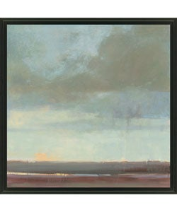 Kim Coulter 'Viridian Sky II' Framed Canvas Art