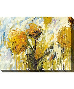 Karen Silve 'Sunflower Stare I' Canvas Art