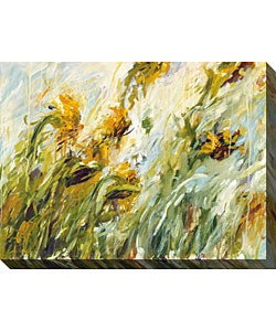 Karen Silve 'Sunflower Stare II' Canvas Art