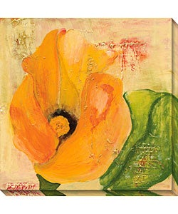 Laura Gunn 'Calla Lily in Orange' Canvas Art