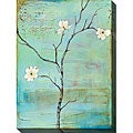 Dogwood on Turquoise II Gallery Wrapped Canvas Art