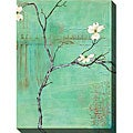 Dogwood on Turquoise III Gallery Wrapped Canvas Art
