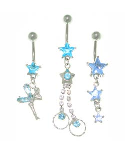 CGC Crystal and Stars Curved Belly Barbell (Case of 3)