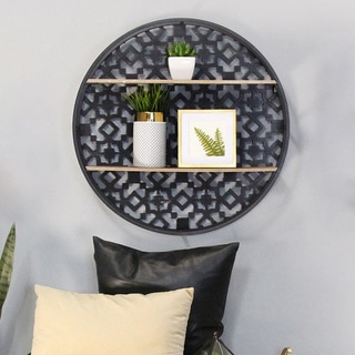 The Curated Nomad Theld Oversized Decorative Boho Wall Shelf