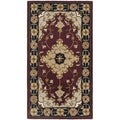 Safavieh Handmade Heritage Tabriz Red/ Black Wool Runner (2'3 x 4')