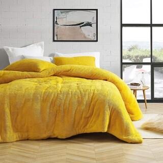 Coma Inducer Oversized Comforter - Teddy Bear - Ochre (Shams not included)