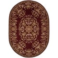 Handmade Heritage Red Wool Rug (7'6 x 9'6 Oval)