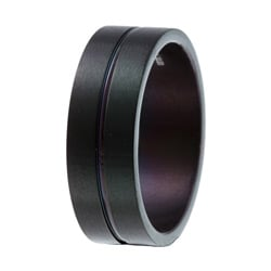 Men's Titanium Extra Wide Black-plated Ring (9 mm)