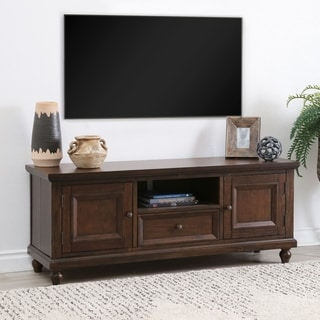 Abbyson Kester Solid Wood Media Console - 60-Inch