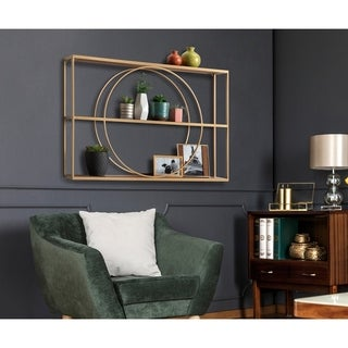 Kate and Laurel Pirzada Geometric Wall Shelf - 36x24