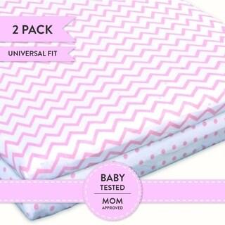 Bassinet Sheet Set Jersey Cotton 2 Pack - Pink