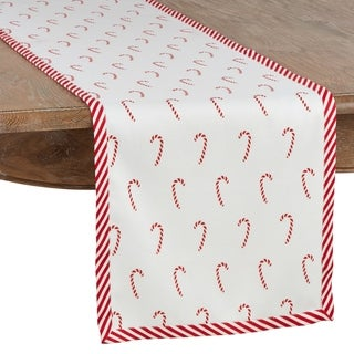 Candy Cane Long Table Runner