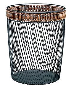 Wire with Bead Trim Wastebasket