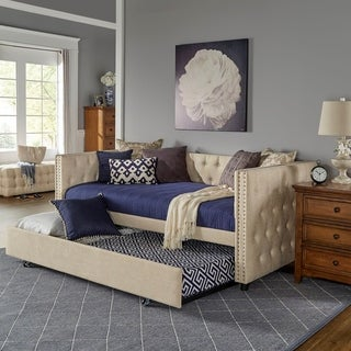 Kahler Weave Fabric Daybed with Metal Slats by iNSPIRE Q Classic