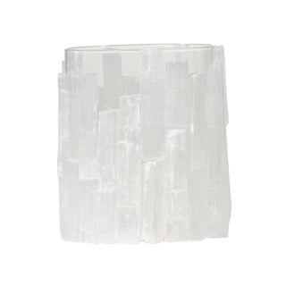 White 6-inch Crystal-like Selenite Lantern