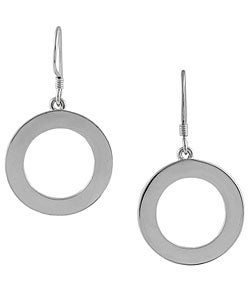 Journee Collection Sterling Silver Dangling Disc Earrings
