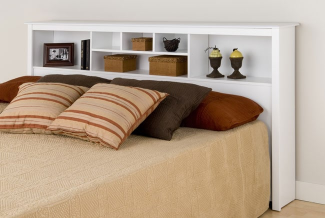 Winslow White King Bookcase Headboard