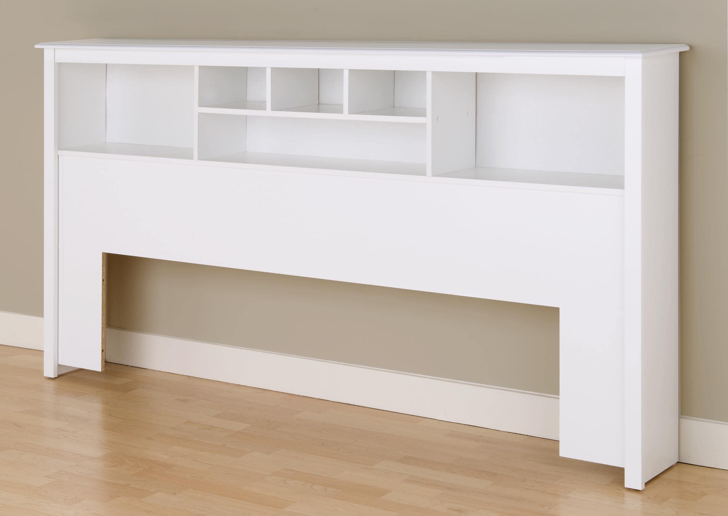 Winslow White King Bookcase Headboard