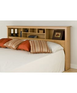 Montego Maple King Bookcase Headboard