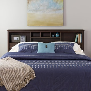 Everett Espresso King Bookcase Headboard