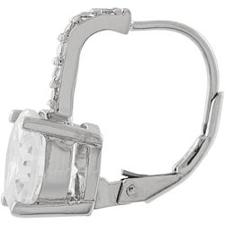 Tressa Sterling Silver CZ Lever Back Earrings
