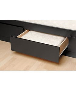 Black King Mate's 6-drawer Platform Storage Bed