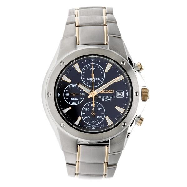 Seiko Men's Two-Tone Chronograph Quartz Watch