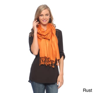 Women's Solid Viscose Faux Pashmina Shawls (Pack of 3)