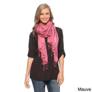 Super Soft Solid Viscose Faux Pashmina Wraps Model 6287 (3 Pack)