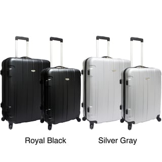 Traveler&#39;s Choice TC3900 Rome 2-piece Hardside Spinner Checked Luggage Set