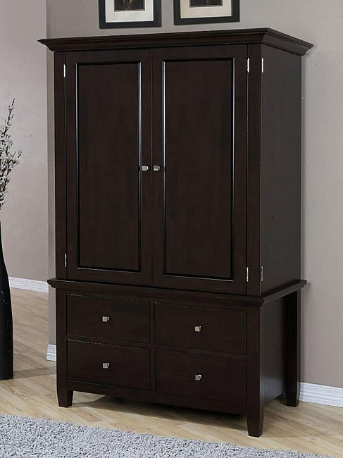 Aristo four drawer armoire dresser clothes storage room for Clothes dresser