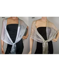 Women's Metallic Mesh Wrap (Pack of 2)