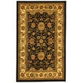 Lyndhurst Collection Majestic Black/ Ivory Rug (3'3 x 5'3)