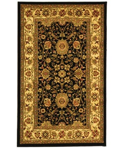 Safavieh Lyndhurst Collection Majestic Black/ Ivory Rug (5'3 x 7'6)