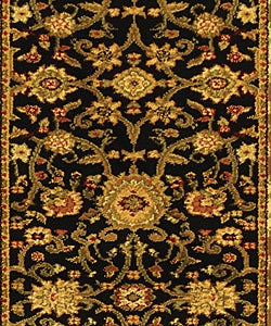 Lyndhurst Collection Majestic Black/ Ivory Runner (2'3 x 8)