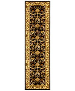 Safavieh Lyndhurst Collection Majestic Black/ Ivory Runner (2'3 x 12')