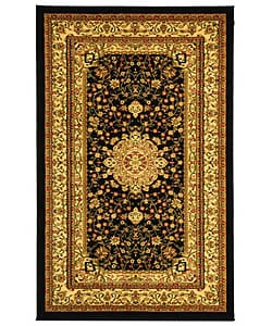 Safavieh Lyndhurst Collection Mashad Black/ Ivory Rug (5'3 x 7'6)