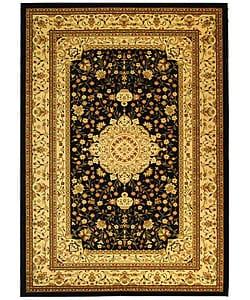 Safavieh Lyndhurst Collection Mashad Black/Ivory Rug (8' x 11')