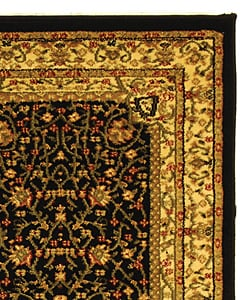 Safavieh Lyndhurst Collection Mashad Black/ Ivory Runner (2'3 x 12')